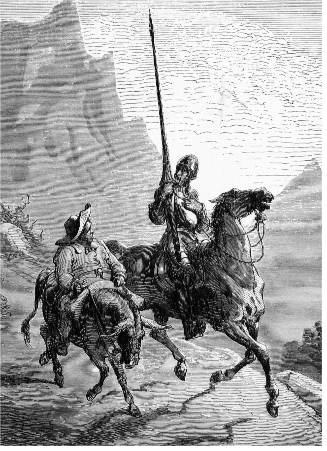 Don Quixote and Sancho by Gustave Doré