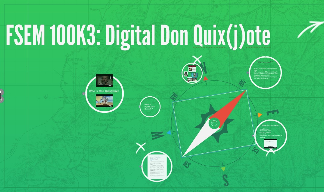 Welcome to UMW and FSEM 100K3 Digital Don Quixote