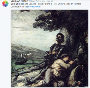 Don Quixote on Twitter